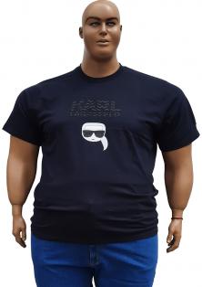 чорна стильна футболка Karl Lagerfeld великого розміру