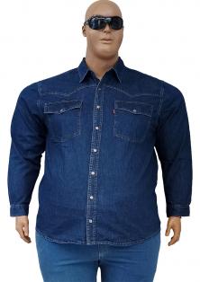 джинсова сорочка DEKONS з довгими рукавами